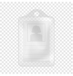 Identification white blank plastic id card mockup vector