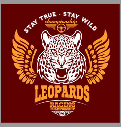 leopards - custom motors club t-shirt logo vector image