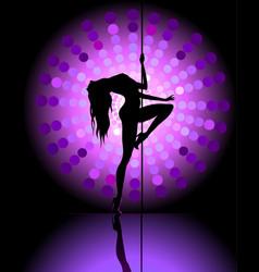 Sexy pole dancer vector