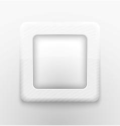 Square white button vector image vector image