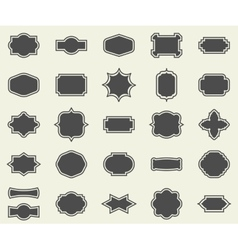 Blank empty dark frames and borders set collection vector image