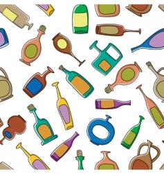bottles pattern vector image vector image