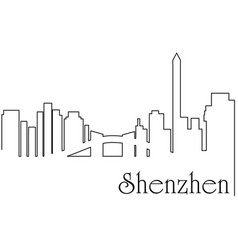 Shenzen city one line drawing vector