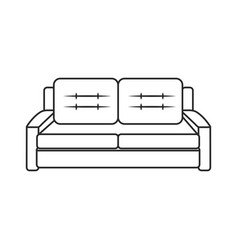 sofa furniture modern style outline vector image vector image