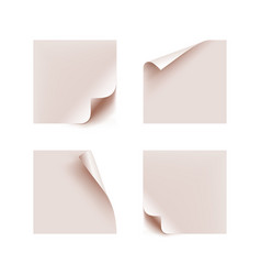 stickers bent edges realistic isolated set vector image