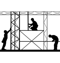 workers on site vector image