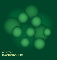 abstract background of green balls vector image