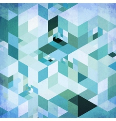 Abstract geometry blue grunge background vector