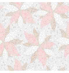 abstract seamless flower pattern vector image