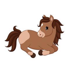 Adorable cartoon horse character vector