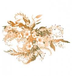 autumn flowers vector image
