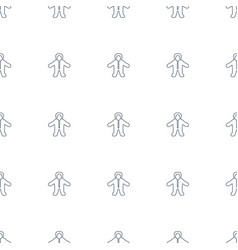 baby icon pattern seamless white background vector image