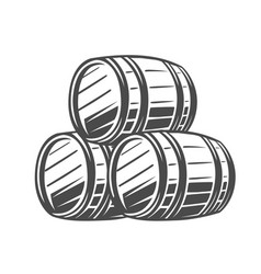 barrel black and white vector image