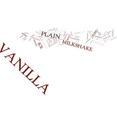 best recipes classic vanilla milkshake text vector image