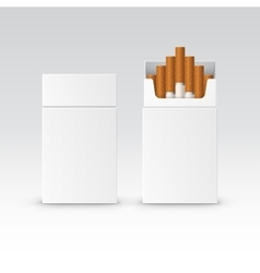Blank pack package box cigarettes vector