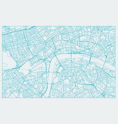 blue and white city street map london vector image