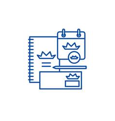 branding book line icon concept branding book vector image