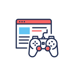 Browser games - modern single line design vector