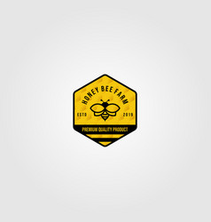 bumblebee logo village farm design vector image