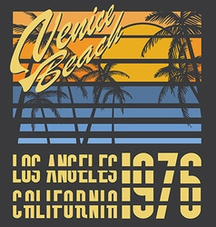 California Venive beach typography t-shirt vector