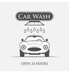 Car wash vintage style vector