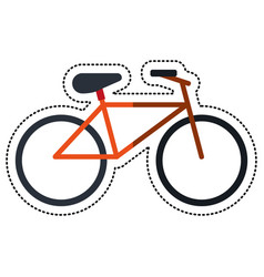 Cartoon bicycle recreation transport icon vector