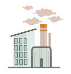 chemical factory or industrial building nuclear vector image