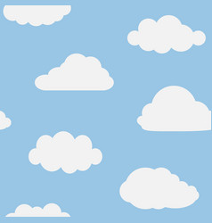 cloud in sky seamless pattern cartoon for kid vector image