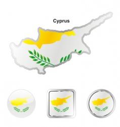 Cyprus flag vector image