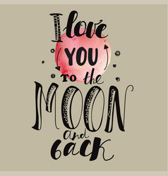 declaration of love pink moon beige background vector image