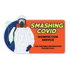 Disinfection service team logo design vector