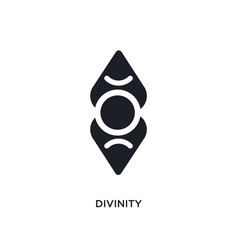 Divinity isolated icon simple element from zodiac vector