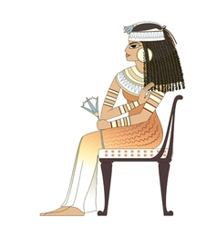 elegant woman in ancient egypt vector image