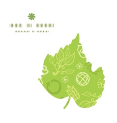 Environmental leaf silhouette pattern frame vector