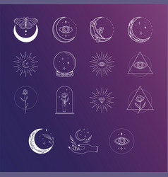 Esoteric logo designs and templates collection vector