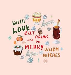 festive season hand lettering vector image