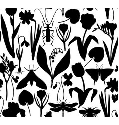 first spring flowers background floral elements vector image