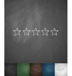 five-star icon vector image
