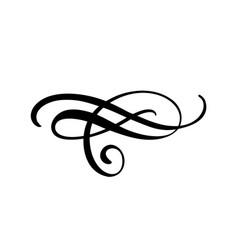 Floral calligraphy element flourish border vector