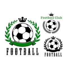 Football or soccer club badges design vector image