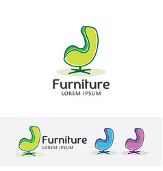 furniture logo design vector image