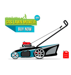 Gas lawn mover sale banner vector