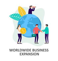Global business development strategy vector