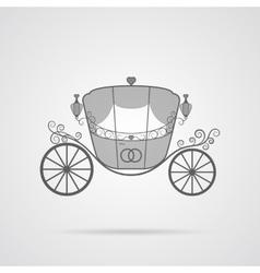 Gray Wedding Carriage Icon vector