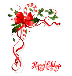 holiday floral decoration vector image