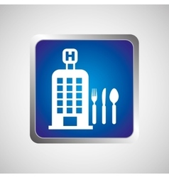 Hotel service restaurant icon design graphic vector