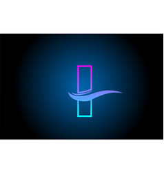 I blue and pink alphabet letter logo icon for vector