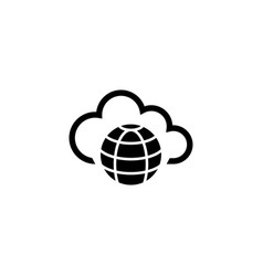 internet cloud technology global web net flat vector image