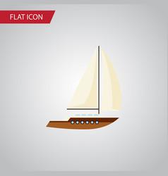 isolated sailboat flat icon yacht element vector image