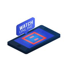 Karate mat carpet tatami on phone screen online vector